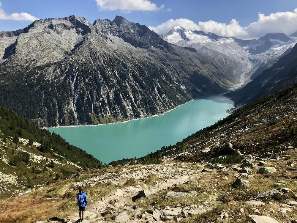 Wandern mit Kindern zur Olperer Hütte - Herbstwanderung Alpen