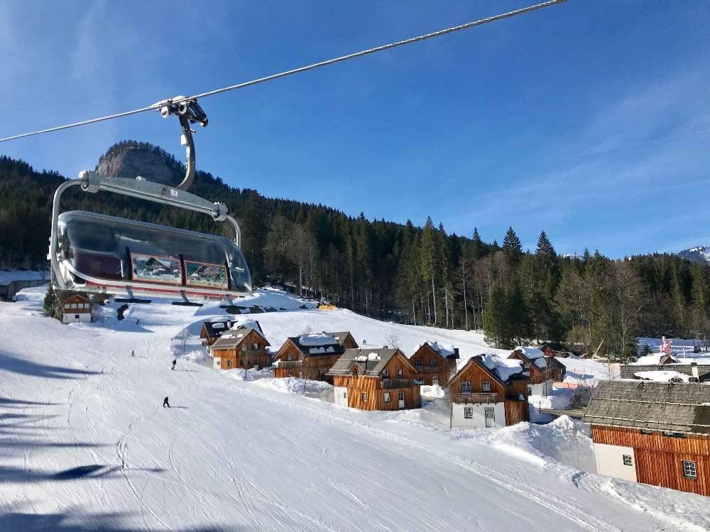 Im Winter liegt die Hagan Lodge direkt an der Skipiste!