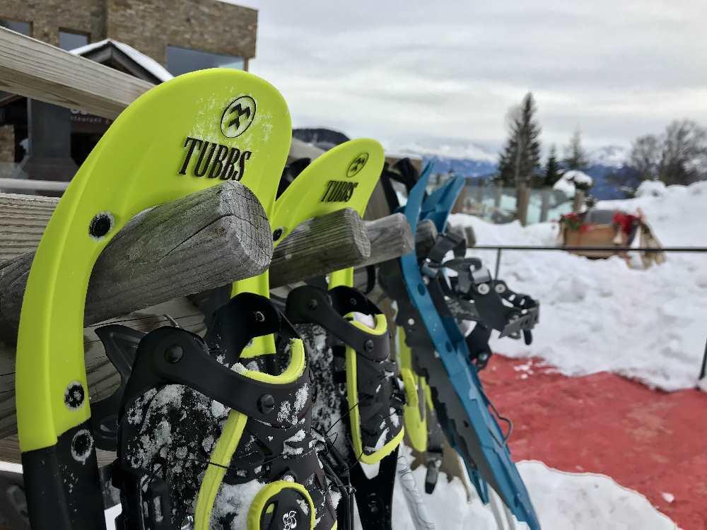Leichte Schneeschuhwanderung in Seefeld, oben mit Einkehrmöglichkeit