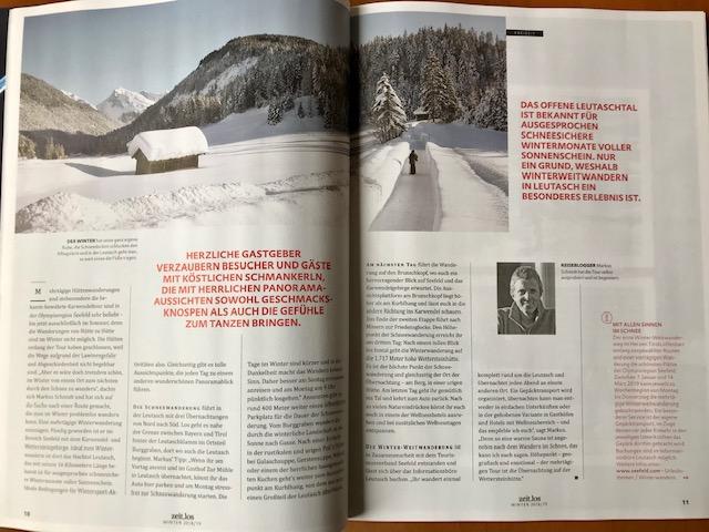 mehrtägige Winterwanderung in Tirol - Schneewandern in Leutasch