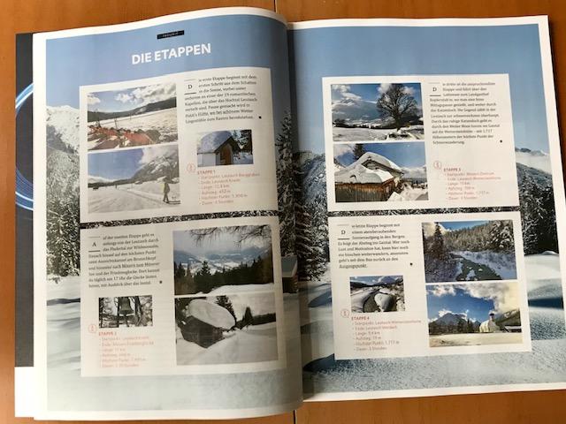 Schneewandern - toll Winter weitwandern in den Alpen