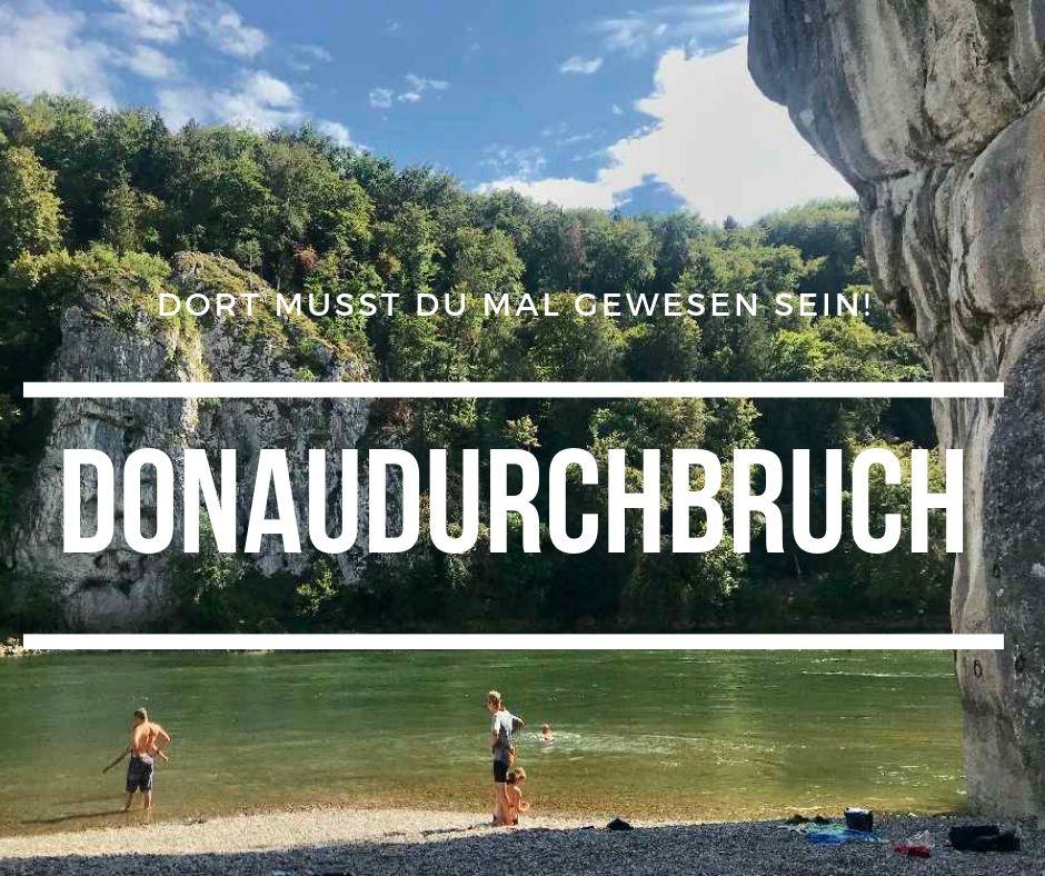 Der Reiseblogger in Bayern unterwegs: Am Donaudurchbruch mit den steilen Felsen an der Donau