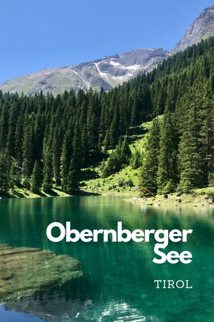 Der Obernberger See in Tirol