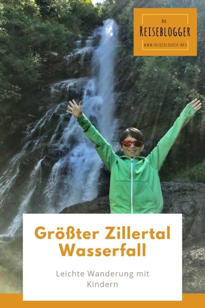Am größten Zillertal Wasserfall - der Schleierwasserfall ist eine leichte Wanderung mit Kindern