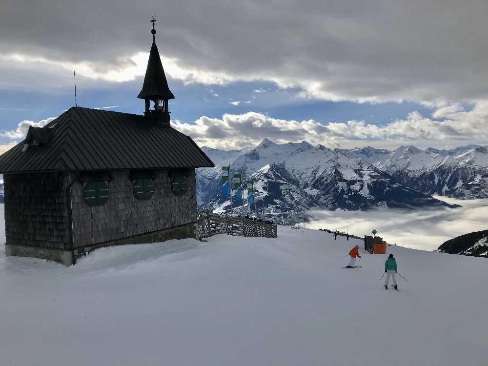 Salzburg Reiseziele Winter auf der Schmittenhöhe Skifahren