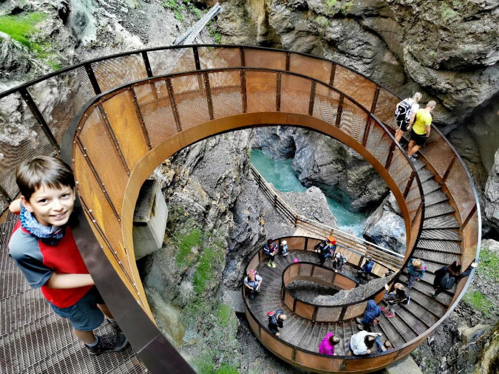 Unser Ausflug in die Liechtensteinklamm - mit neuen Helix Treppe