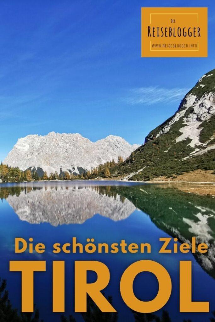 Tirol Reiseziele - der Seebensee wurde zum schönsten Platz in Tirol gewählt
