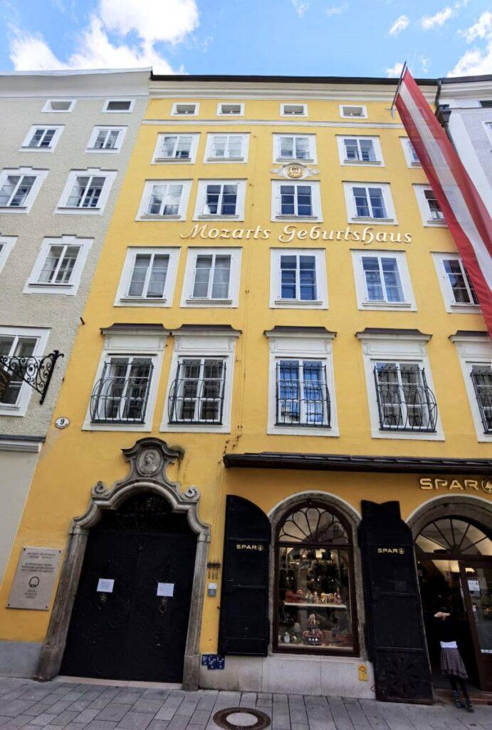 Das Mozarthaus in Salzburg